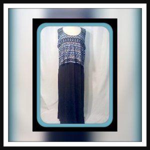 Delirious Size 1X Sleeveless Maxi Dress